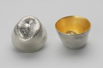 610084_Sake_Cup_Oriental_Zodiac_[gold]_Snake