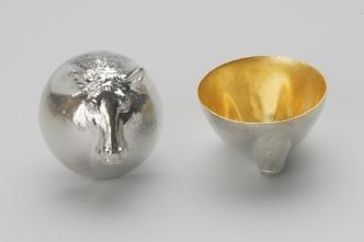 610085_Sake_Cup_Oriental_Zodiac_[gold]_Horse